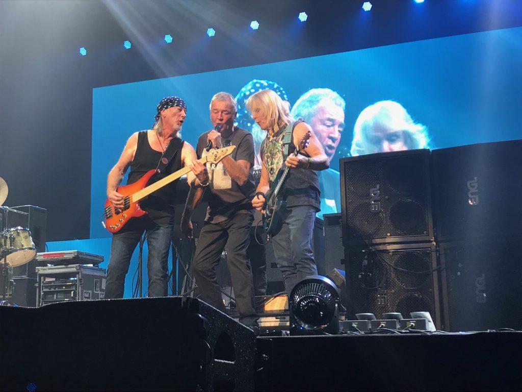 Roger Glover, Ian Gillan, and Steve Morse. Centre Videotron, Quebec City, Quebec, Canada.